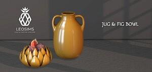 Jug and Fig Bowl sims 4 cc