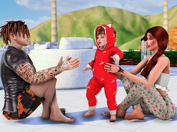 Just little cute moments sims 4 cc