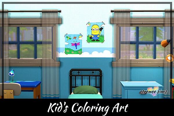 Kids Coloring Art sims 4 cc