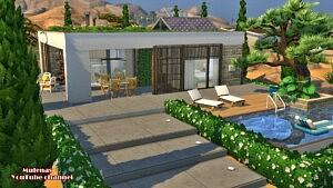 Light modern house sims 4 cc