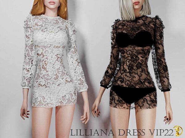 Lilliana Dress VIP22 sims 4 cc