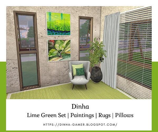 Lime Green Set sims 4 cc
