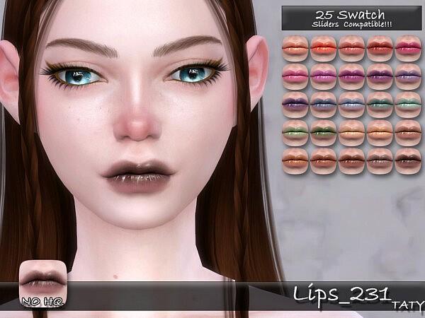 Lips 231 sims 4 cc