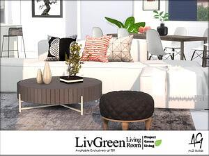 LivGreen Living Room sims 4 cc