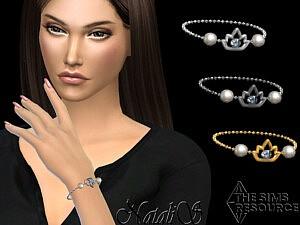 Lotus pearl chain bracelet