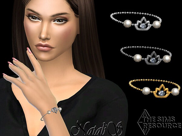 Lotus pearl chain bracelet by NataliS from TSR