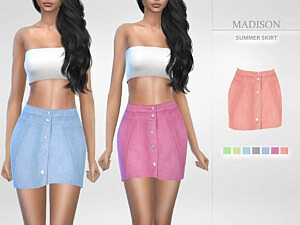Madison Summer Skirt sims 4 cc