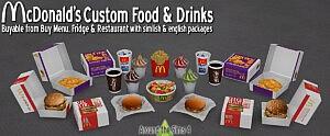 Mc Donalds Fast food restaurant sims 4 cc