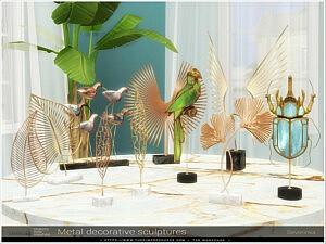 Metal Decorative sculptures sims 4 cc