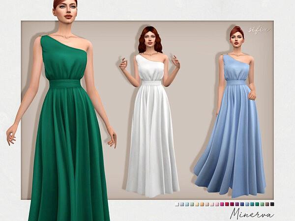 Minerva Dress sims 4 cc