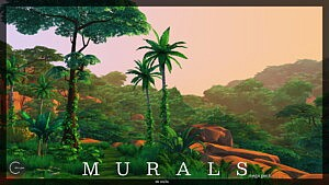 Murals Mega Pack sims 4 cc
