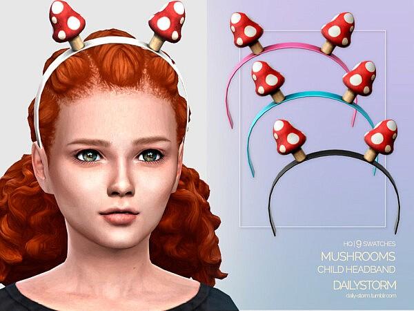 Mushrooms Headband Child sims 4 cc