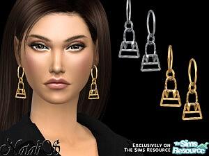 NataliS Bag pendant hoop earrings