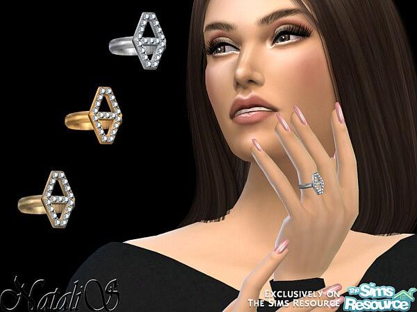 NataliS Diamond hexagon ring sims 4 cc