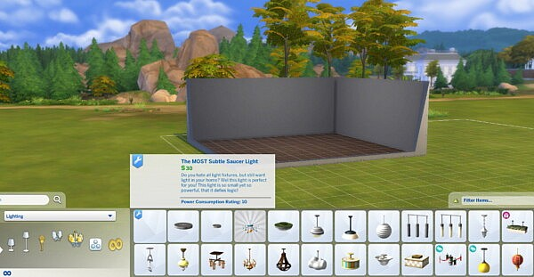 Nearly Invisible Light Fixture sims 4 cc