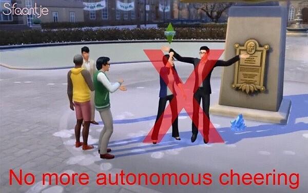 No More Autonomous Incite Cheers sims 4 cc