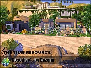 Nosedive house sims 4 cc