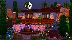 Oasis stones house sims 4 cc