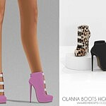 Olana Boots High Heels sims 4 cc