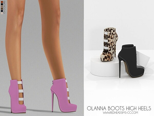 Olana Boots High Heels from Red Head Sims