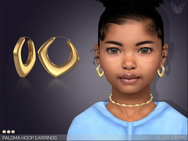 Paloma Hoop Earrings For Kids sims 4 cc