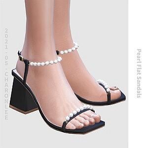 Pearl Chunky Heel Sandals