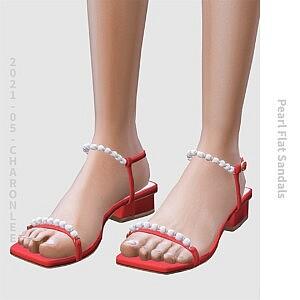 Pearl Flat Sandals sims 4 cc