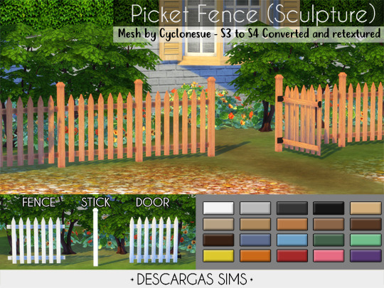 Picket Fence from Descargas Sims