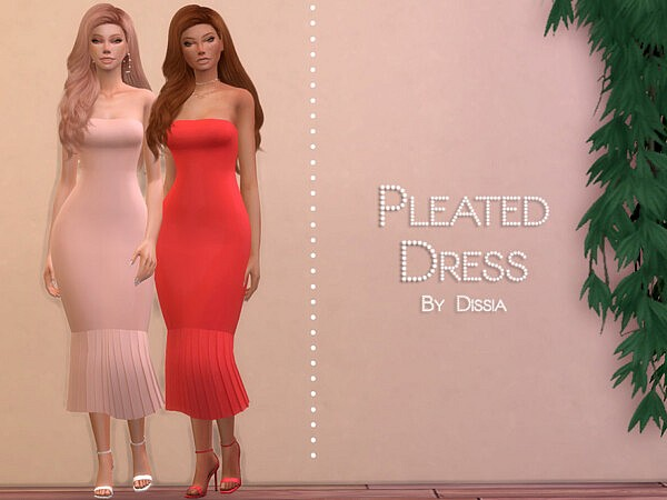 Pleated Dress by Dissia from TSR