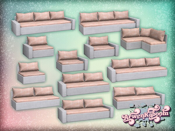 Pure Morning   Sectional Sofa Recolor by ArwenKaboom from TSR