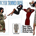 RHOWCS FUR TRIMMED DRESS sims 4 cc