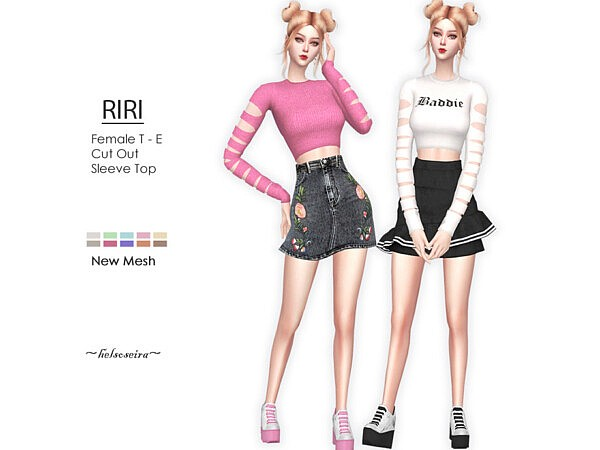 Riri Cut Out Top by Helsoseira from TSR