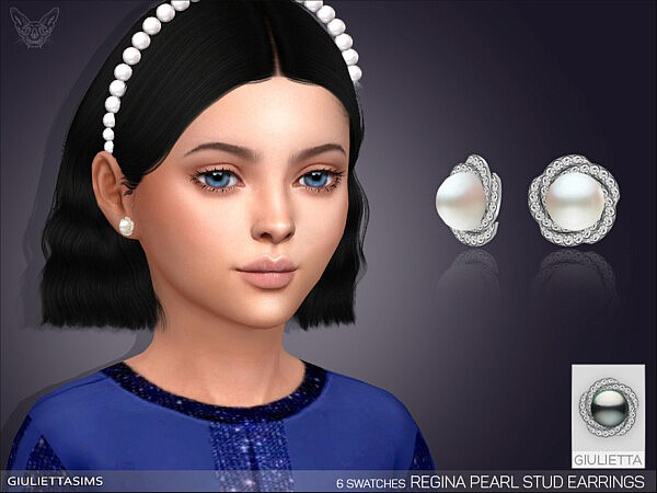 Regina Pearl Earrings For Kids sims 4 cc