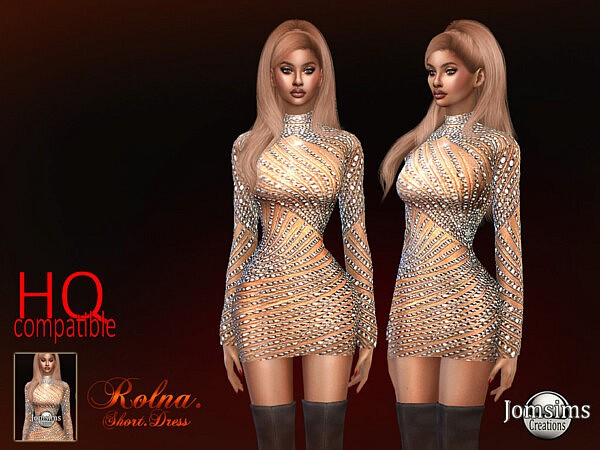 Rolna short dress by jomsims from TSR