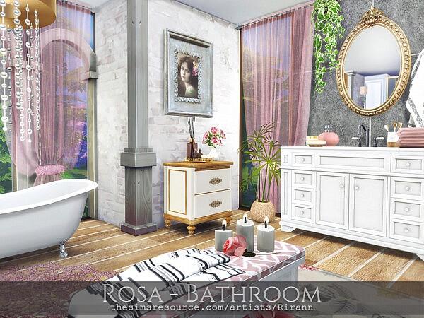 Rosa Bathroom sims 4 cc