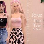 Rose Tied Top