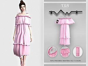 Ruffle Maxi Dress BD464