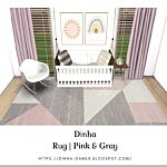 Rug Pink and Gray sims 4 cc