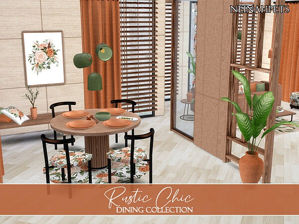 Rustic Chic Dining sims 4 cc