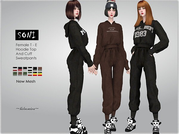 Soni Hoodie and Sweat pants by Helsoseira from TSR
