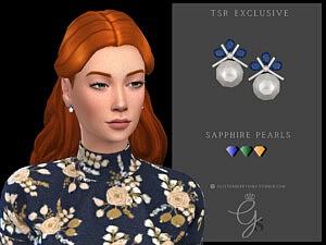 Sapphire Pearls sims 4 cc