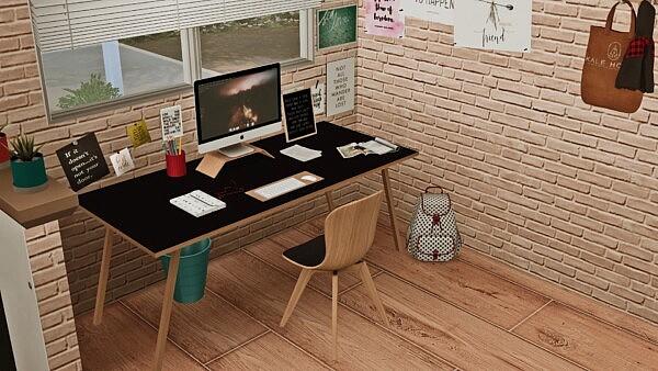 Scandi Style Study sims 4 cc