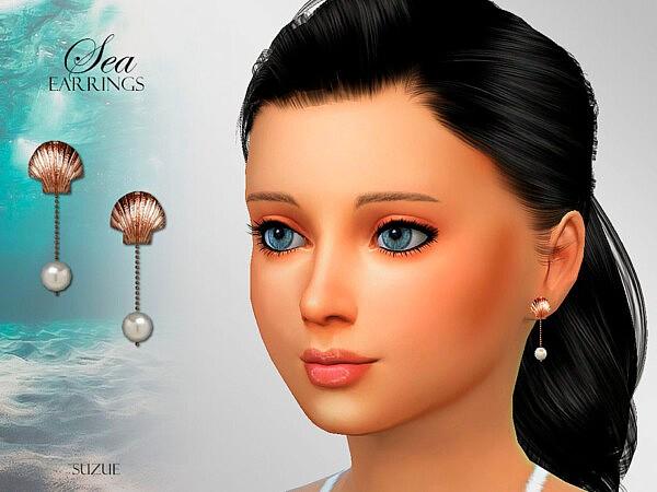 Sea Child Earrings sims 4 cc