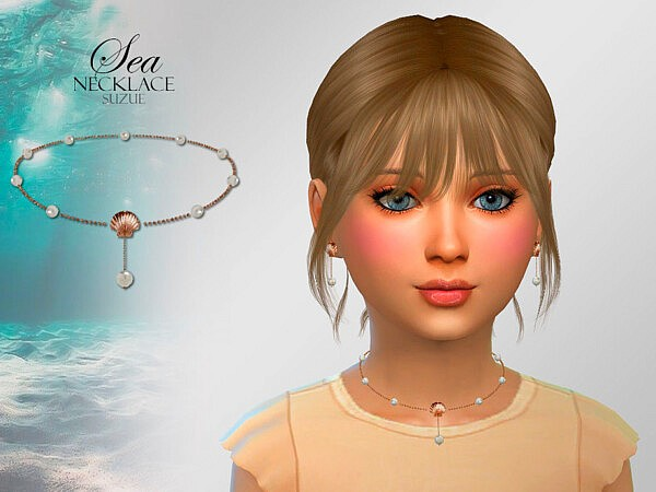 Sea Child Necklace sims 4 cc