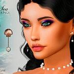 Sea Earrings sims 4 cc