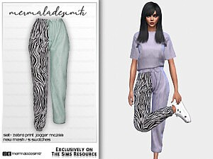 Set Zebra Print Jogger MC233