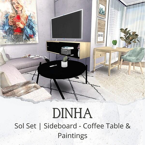 Sideboard Coffee Table Paintings