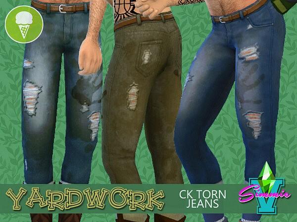 SimmieV Yardwork CK Torn Jeans