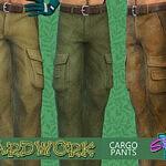 SimmieV Yardwork Cargo Pants sims 4 cc