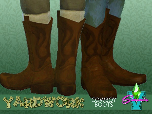 SimmieV Yardwork Cowboy Boot